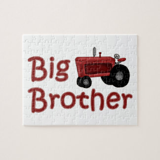 Big Brother Red Tractor Jigsaw Puzzle