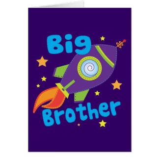 Big Brother Rocket Ship Sibling Sets Greeting Card