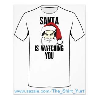 Big Brother Santa Claus Is Watching You 11.5 Cm X 14 Cm Flyer