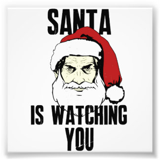Big Brother Santa Claus Is Watching You Photographic Print