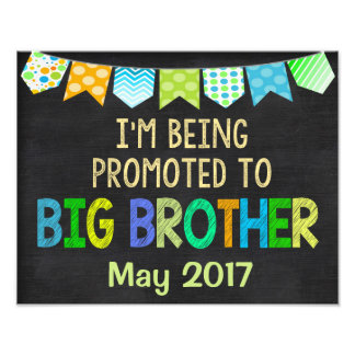 Big Brother Sign, Pregnancy Sign, New Baby, Baby Photo Print