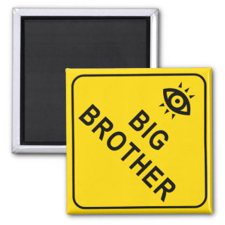 Big Brother Square Magnet