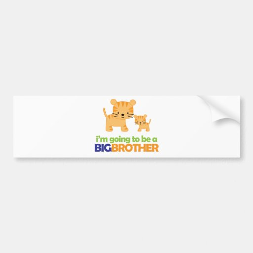 Big Brother Tiger T-shirt Pregnancy Announcement Bumper Sticker
