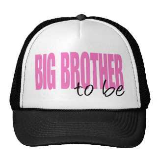 Big Brother To Be (Pink Block Font) Hat