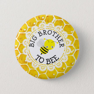 Big Brother to Bee Baby Shower Button