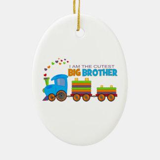 Big Brother -Train Ceramic Oval Decoration
