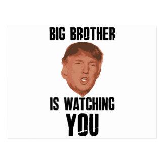 Big Brother Trump Postcard
