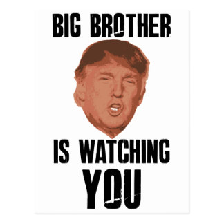 Big Brother Trump Postcard