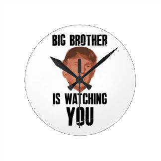 Big Brother Trump Round Clock