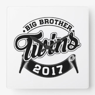 Big Brother Twins 2017 Square Wall Clock