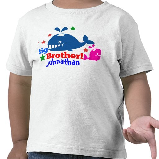 big brother whale tee shirt kids customized