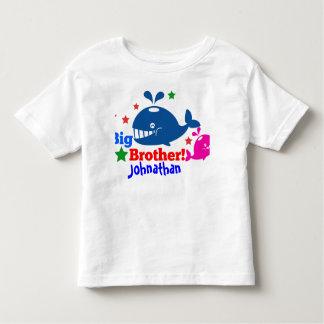 big brother whale tee shirt kids customized