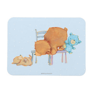 Big Brown Bear, Calico, & Floppy Share Two Chairs Magnets