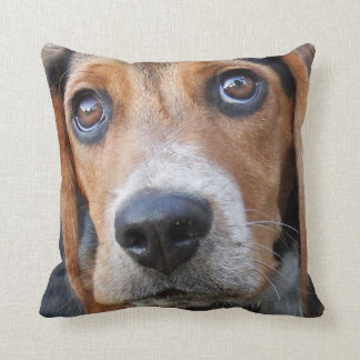 Big Brown Eyed Beagle Puppy Dog Cushion