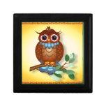 Big Brown Owl  Tiles-Trivets Keepsake Boxes