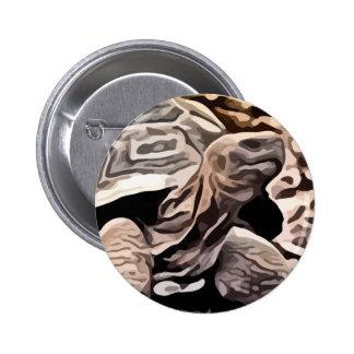 big brown turtle painting pinback button