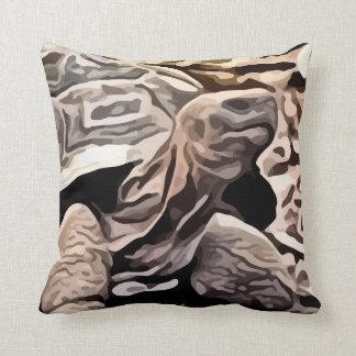 big brown turtle painting cushions