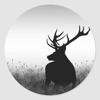 Big Buck Classic Round Sticker