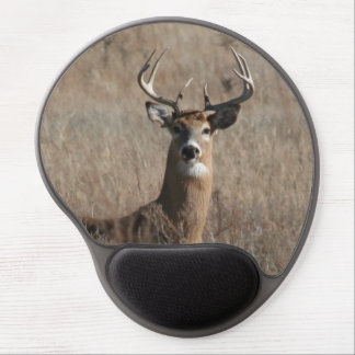 Big Buck Deer in Tall Grass Camo Mouse Pad