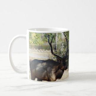 Big Bull Elk Hunting Mancave Design Coffee Mug Cup