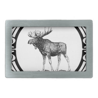 big bull moose art belt buckles