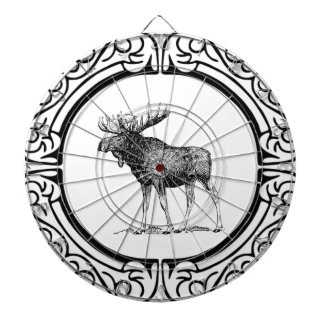 big bull moose art dartboard