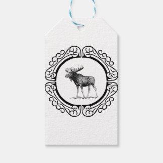 big bull moose art gift tags