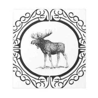big bull moose art notepad