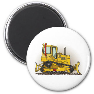 Big Bulldozer Dozer Round Magnet