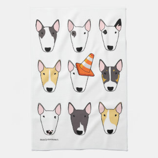 Big Bully (9 dog design) Tea Towel Dish Cloth
