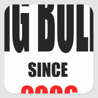 BIG BULLY school since 2000 back learn homework re Square Sticker
