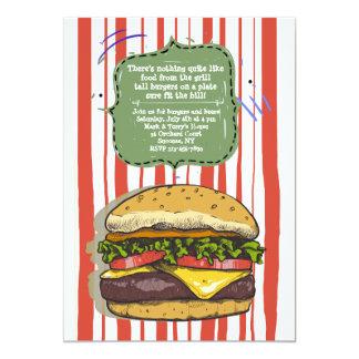 Big Burger Invitation