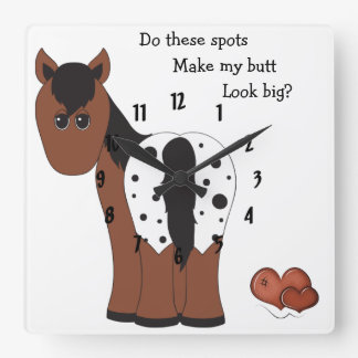 Big Butt Appy Horse Wall Clock