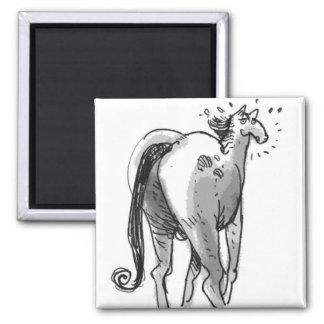 big butt horse funny cartoon magnet