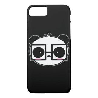Big Cartoon Panda With Black Framed Square Glasses iPhone 8/7 Case