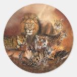 Big Cat Art Sticker