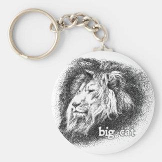 Big Cat... Basic Round Button Key Ring