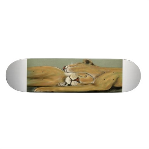 big cat nap custom skateboard