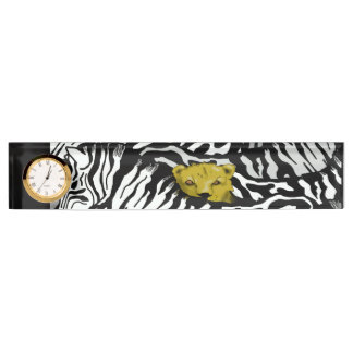 BIG CAT, ZEBRA AND LION by Slipperywindow Name Plate