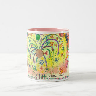 Big Celebration Art by a Teenager with Autism Two-Tone Mug