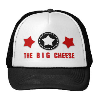 BIG CHEESE BOSS Template Modern Design BLACK RED Cap