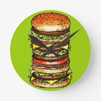 Big Cheeseburger Clocks