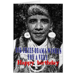 big chief obama wishes you a happy birthday greeting cards