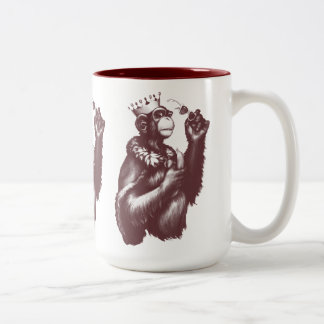 Big Chimpin' (Monochrome) Two-Tone Coffee Mug