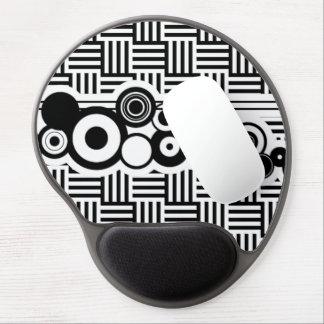 Big Circles and Basketweave striped Gel Mousepad
