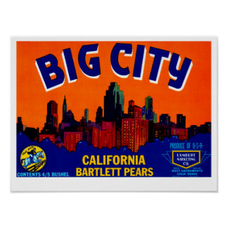 Big City Pears Poster