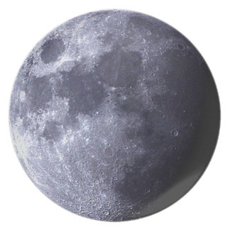 Big close up of The Moon  - Earth's Satelite - Plate