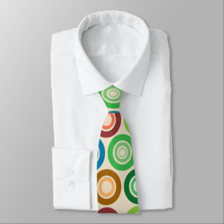 Big Colorful Circles Tie