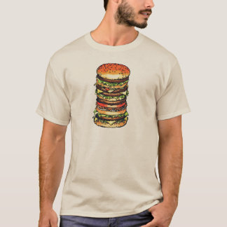 Big, colorful hamburger T-Shirt