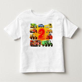 Big Construction Trucks 2nd Birthday Toddler T-Shirt